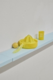 Rivers of Germany V, 2018 Polystyrene, screws, tape, plastic fixtures​, and Rivers of Germany VI, 2018 Condom, plastic objects (reoccurring objects – first appeared The Carp of the Tench, 2015, Dorothea Schlueter, Hamburg)